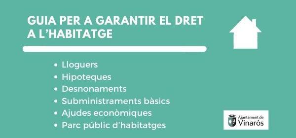 GUIA PER A GARANTIR EL DRET A L'HABITATGE