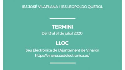 Se abre el plazo para solicitar las ayudas al transporte del curso 2020-2021